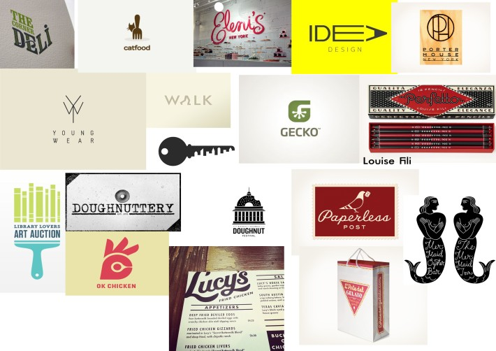 Logo mood board looking at some more independent style company logos that aren't as well known to me. Some really clever ideas. Like the ones by Louise Fili a graphic designer/ typographer all handlettered